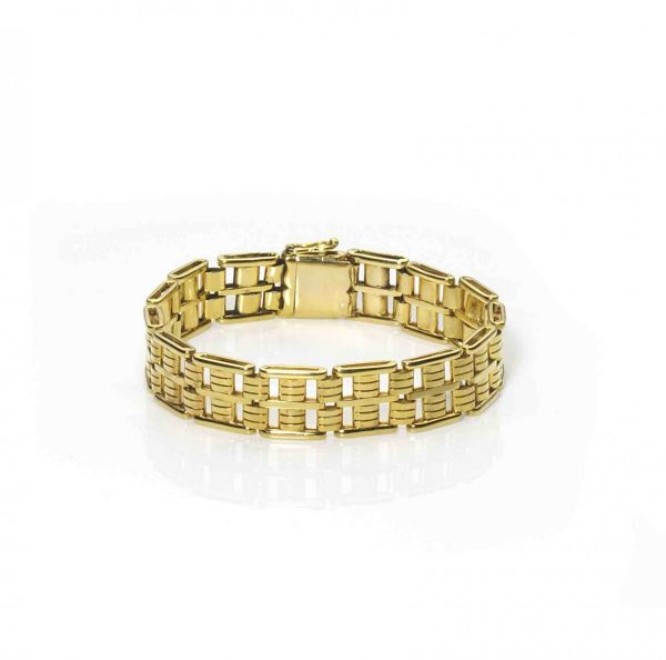 Antique Edwardian Gold Gate Bracelet