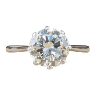 Antique Diamond Engagement Ring old cut over 1 carat platinum and gold old cut art deco