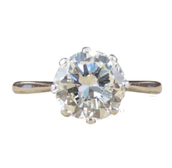 1930 39 s three stone diamond engagement ring carats. Black Bedroom Furniture Sets. Home Design Ideas