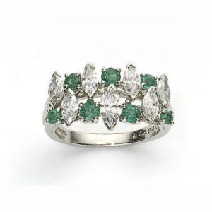 Oscar Heyman emerald and diamond ring