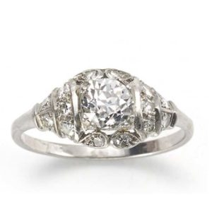 Art Deco diamond engagement ring antique ring Jewellery Discovery London