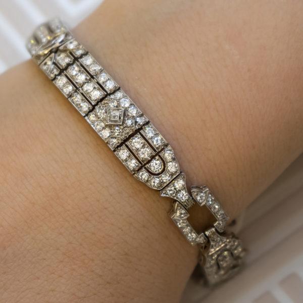 Art Deco diamond bracelet 1920;s Raymond yard Jewellery Diamond