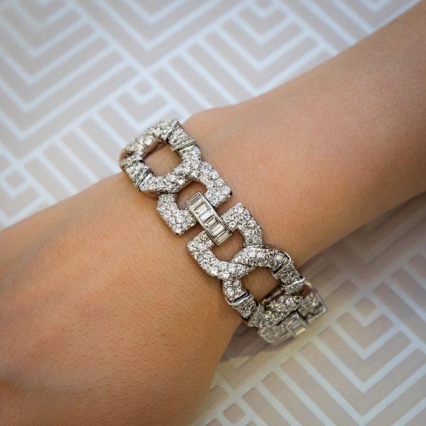 Cartier Art Deco Diamond Bracelet 1920 1930 Platinum Jewellery Discovery