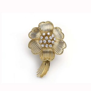 Cartier Flower Brooch diamond wire