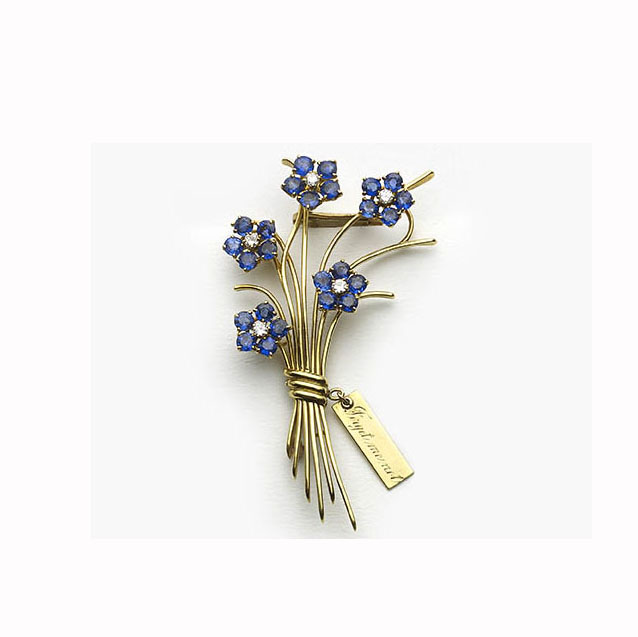 Van Cleef & Arpels Forget-Me-Not Flower Brooch