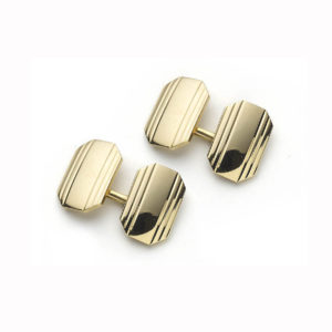 Tiffany Gold Rectangular Cufflinks