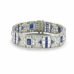 Art Deco Sapphire & Diamond Bracelet, Black Starr and Frost