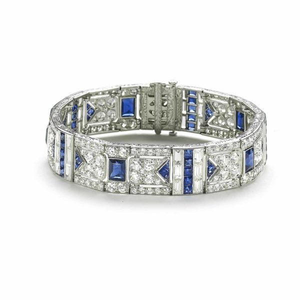 Art Deco Sapphire & Diamond Bracelet, Black Starr and Frost