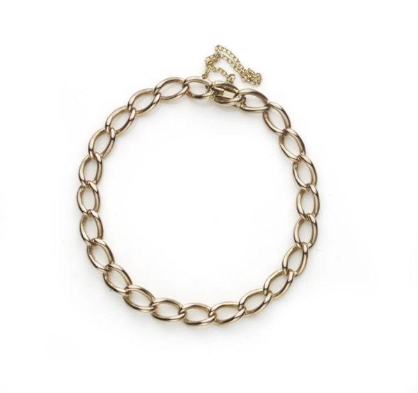 Edwardian 18ct rose gold link bracelet