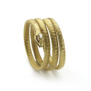 Antique victorian Gold Snake Bangle Bracelet