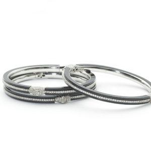 Bakelite Diamond Gold Bangle Bracelet