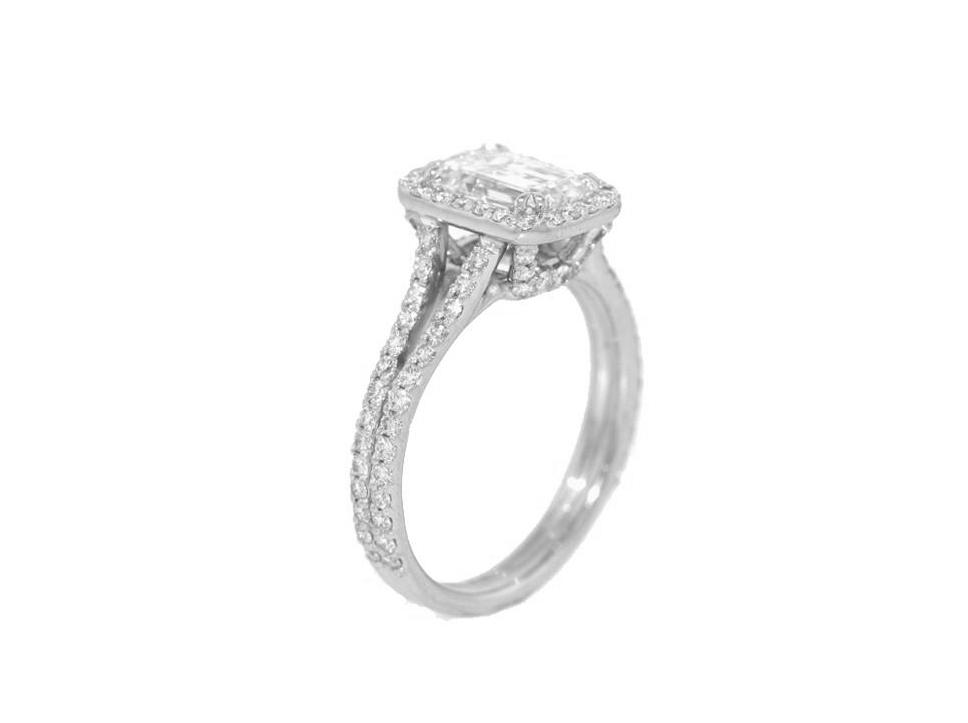emerald cut engagement ring 1 58cts rectangular