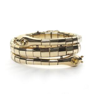 Gold Double Snake Bracelet