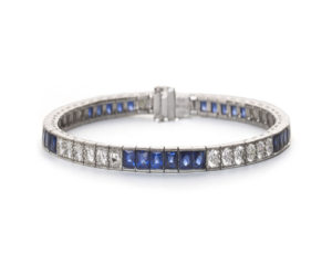 Sapphire and diamond bracelet September Birthstone sapphire