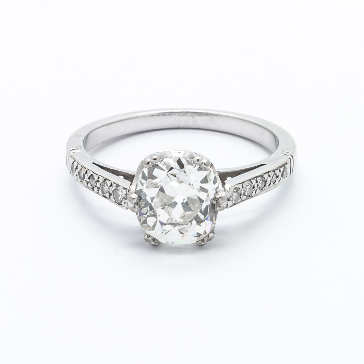 36e73203dd8f2 Antique Cushion Cut Diamond Engagement Ring, 1.52cts