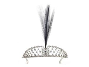Antique Edwardian Diamond Platinum Feather Tiara