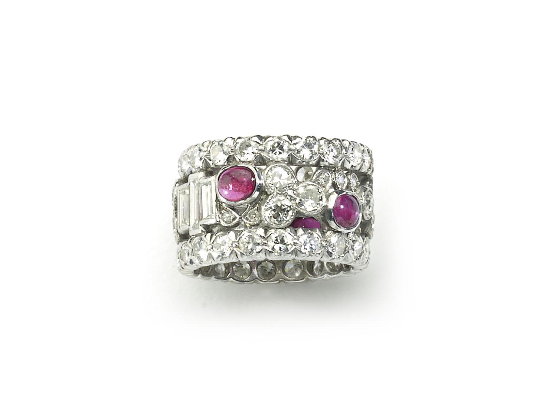 1950s Ruby Diamond Platinum Eternity Band Ring — Jewellery ...