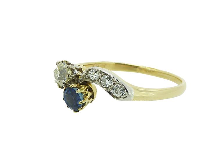 Diamond Crossover Ring Uk