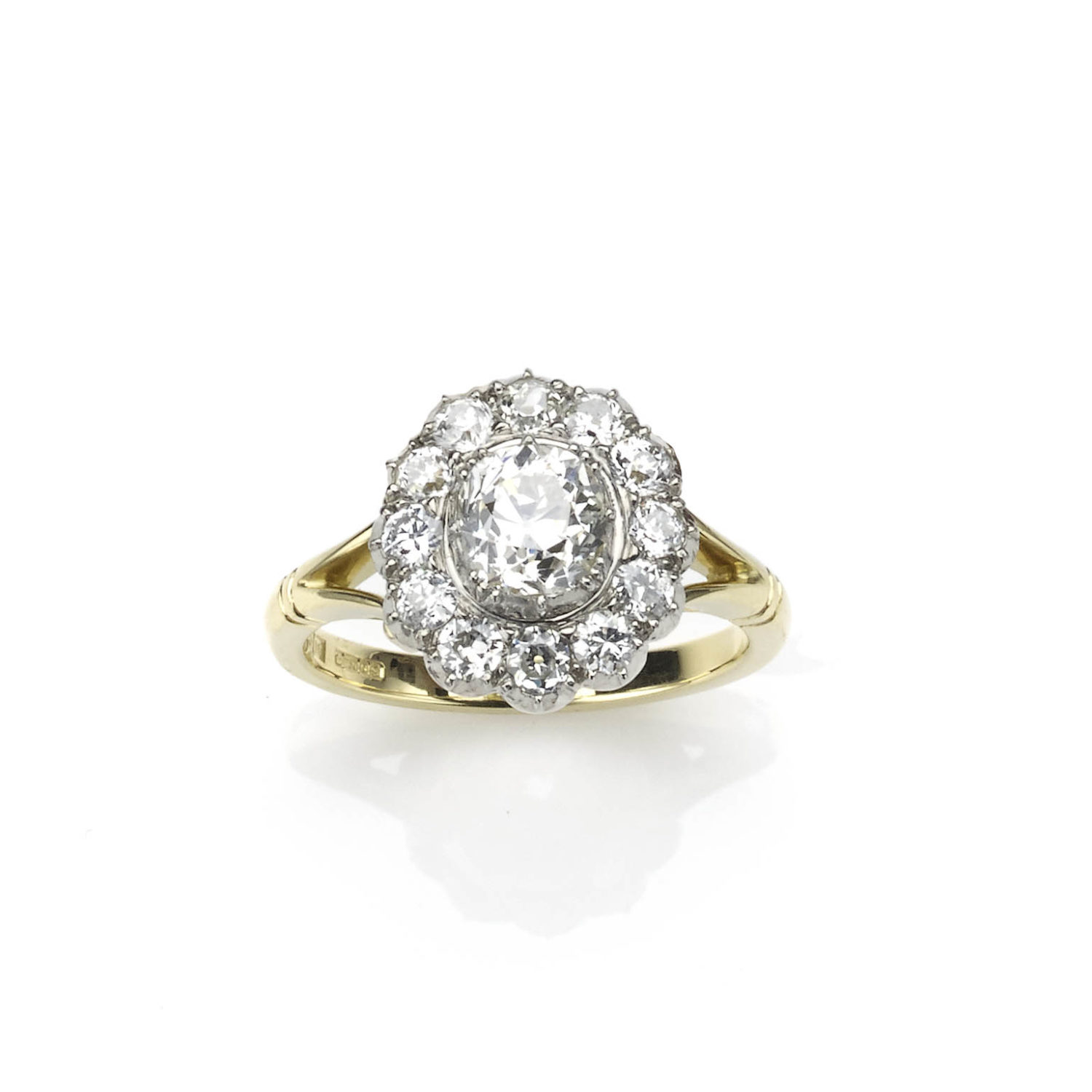 Georgian Style Diamond Cluster Ring