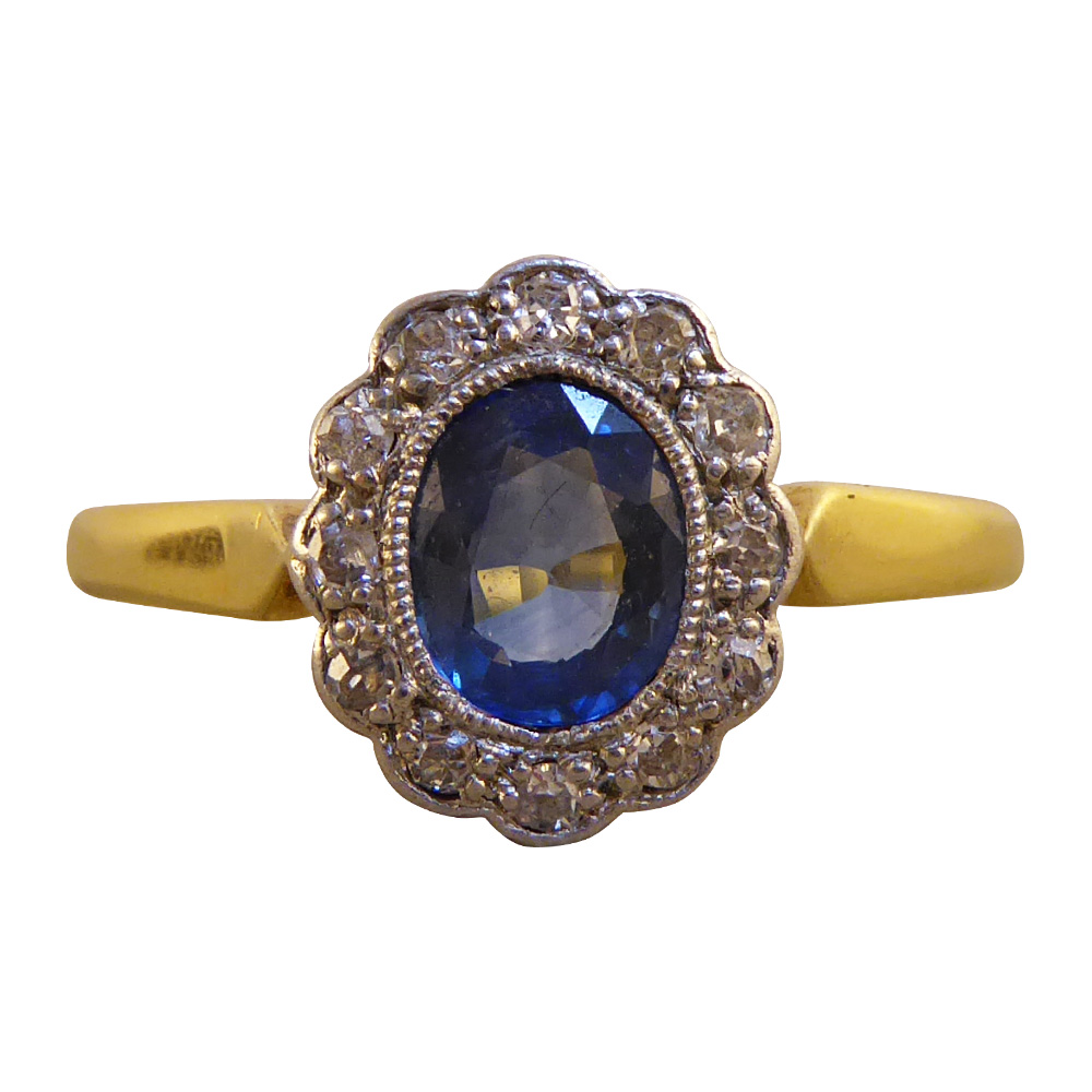 Edwardian Sapphire and Diamond Ring — Jewellery Discovery