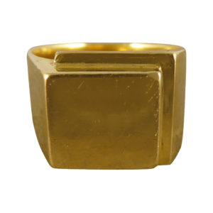 Vintage Gents Square Heavy Signet Ring
