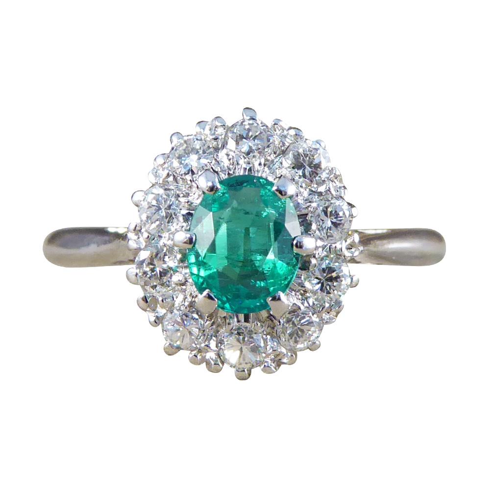Emerald Platinum Ring Uk
