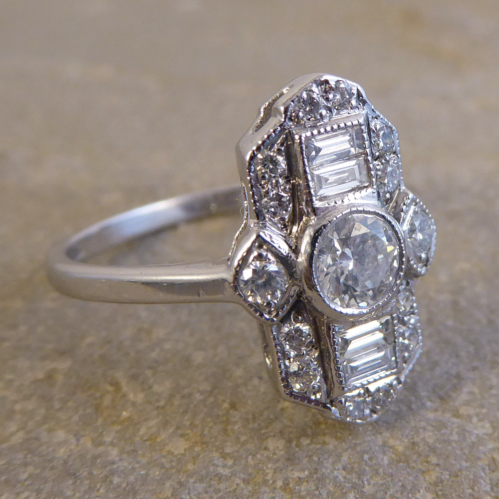 Art Deco Style Diamond Ring Jewellery Discovery