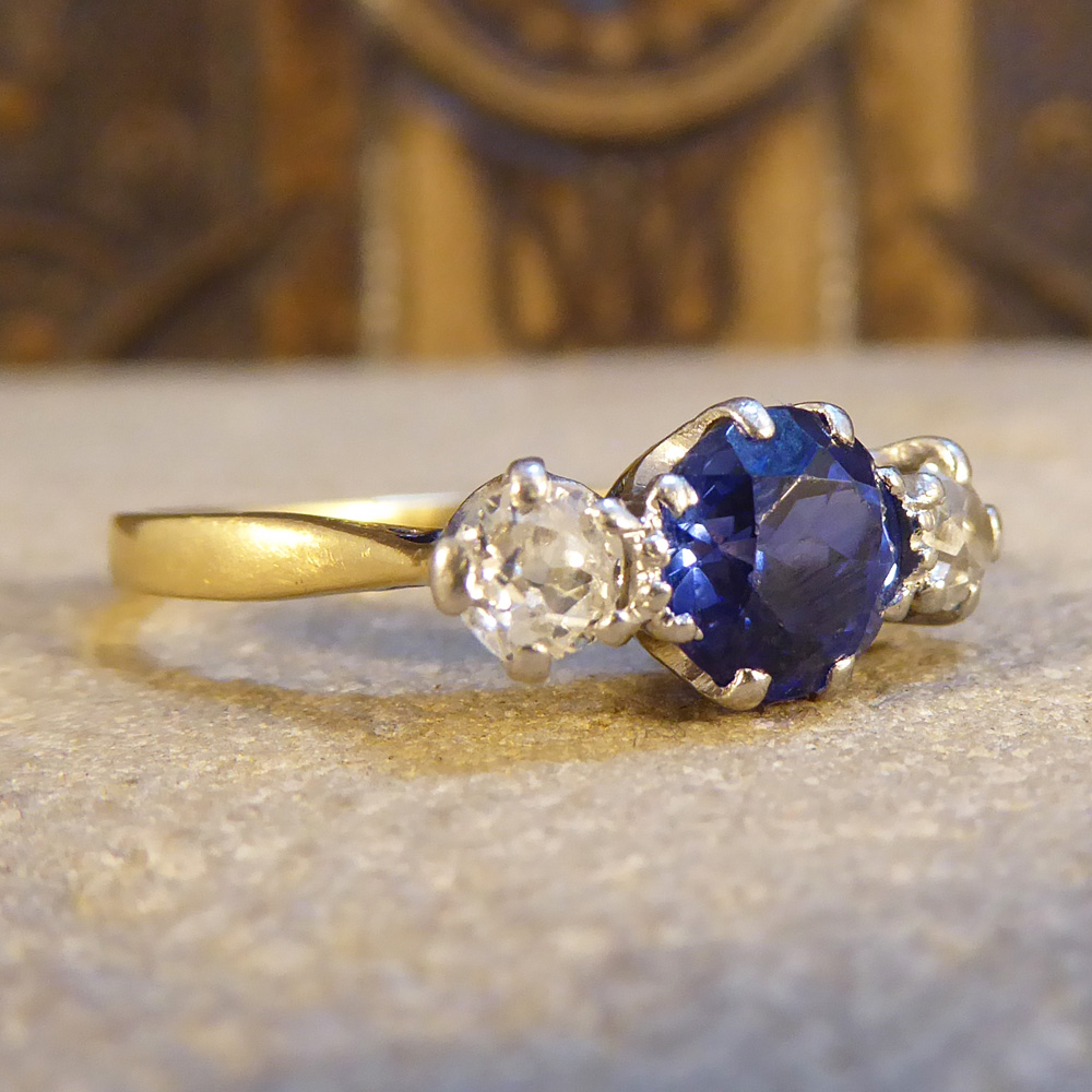 Vintage Engagement Rings Sapphire And Diamond