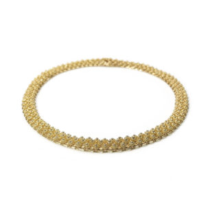 Vintage Cannetille style gold necklace