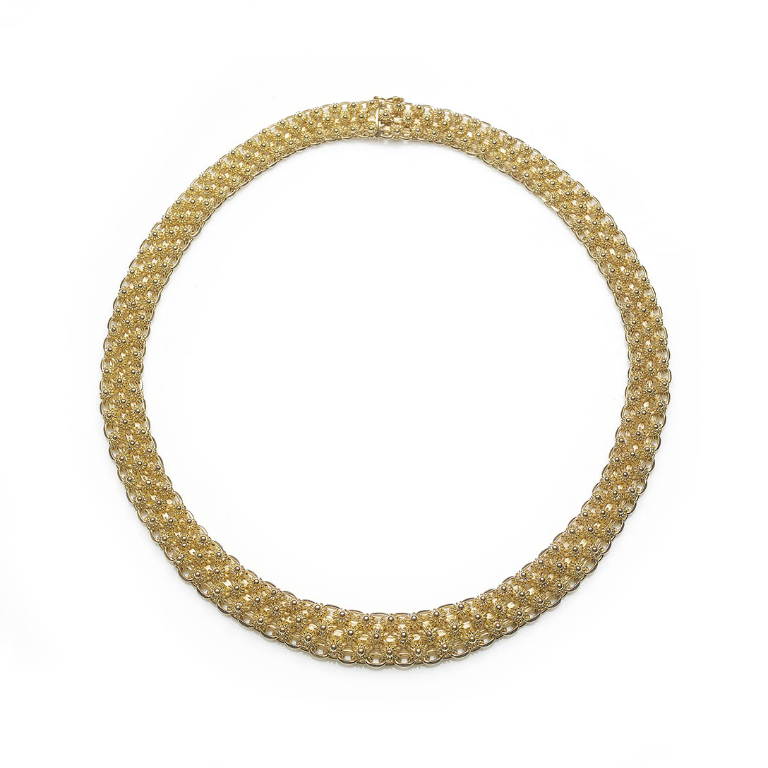 Vintage Cannetille style gold necklace — Jewellery Discovery