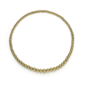 20th Century Gold Bead Necklace