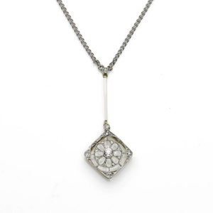 Edwardian diamond pendant