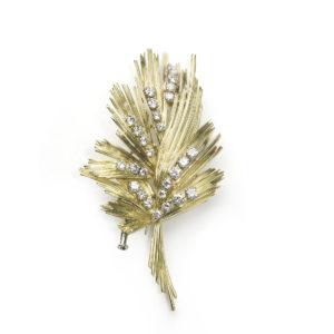 Vintage Gübelin Diamond Gold Brooch