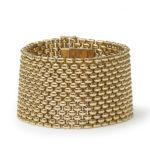 Vintage French Gold Brick Link Bracelet