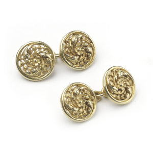Art Nouveau Wiese French Gold Cufflinks