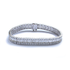 Three Row Diamond Line Bracelet