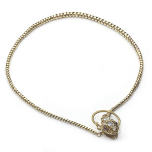 Victorian Gold Snake Necklace