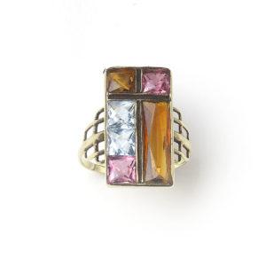 Vintage Multi Gem Gold Ring