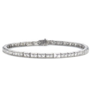 Art Deco 7.20 Ct Diamond Platinum Line Bracelet