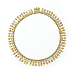 Antique Victorian Pearl Gold Fringe Necklace