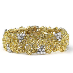 Vintage Boucheron Gold and Diamond Bracelet