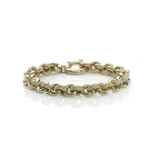 Italian Fancy Link Gold Bracelet