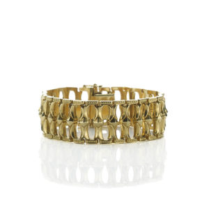 Vintage Fancy Link Gold Bracelet