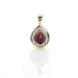 Garnet & Diamond Set Pendant
