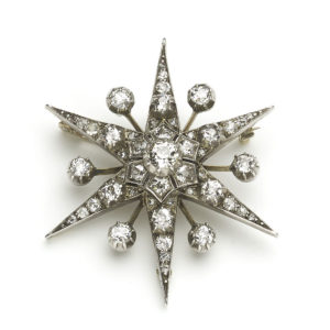 Antique Victorian Diamond Star Brooch