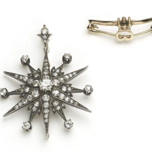 Antique Victorian Diamond Star Pendant