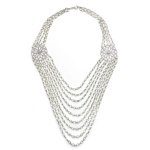 Briolette Diamond Swag Necklace