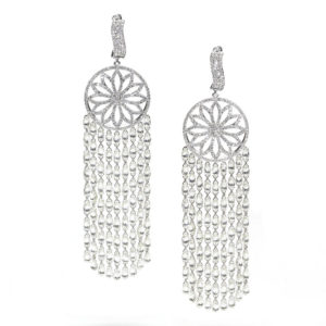 Briolette Diamond Tassel Earrings