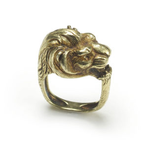 Antique French Gold Lion Ring