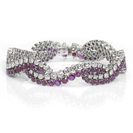 Vintage Ruby & Diamond Bracelet